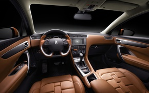 Picture panel, interior, the wheel, Citroen, salon, Citroen, torpedo, DS 4