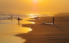 Picture The OCEAN, SAND, WAVE, SAILS, PEOPLE, SHORE, SURFING, Windsurfing