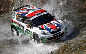 Picture Water, Auto, Sport, Race, Squirt, The view from the top, Rally, Skoda, Fabia