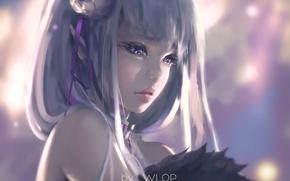 Picture face, portrait, anime, art, emilia, re zero kara hajime chip isek or seikatsu