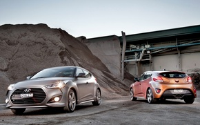 Wallpaper car, Hyundai, wallpapers, two, Turbo, mixed, Veloster