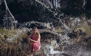 Picture water, girl, photographer, girl, photography, photographer, David Olkarny