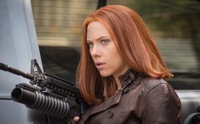 Picture Scarlett Johansson, Captain America, Natasha Romanoff, The Winter Soldier