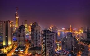 Wallpaper lights, China, Shanghai, Asia, the city