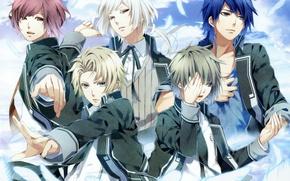 Picture the sky, feathers, form, friends, students, visual novel, norn9, nijou sakuya, akito syukuri, heiishi otomaru, …