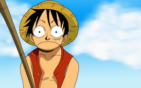 Picture Anime, sky, one piece, luffy