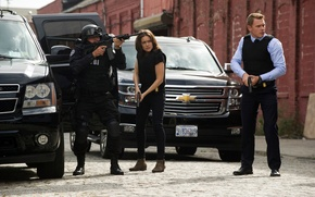 Picture machine, gun, weapons, the series, actors, rifle, characters, assault, agents, The FBI, NBC, TV show, …