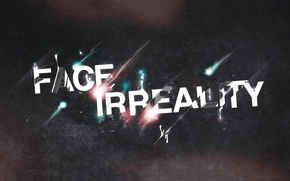 Picture style, the inscription, hq Wallpapers, face irreality