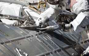 Picture photo, astronaut, NASA, ISS, repair, astronaut