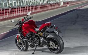 Picture red, Ducati, Monster, moto, road, bike, Legend, classic, 2016, 1200R