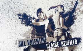 Picture weapons, gun, Resident Evil, Biohazard, Jill Valentine, Claire Redfield