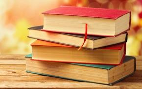 Picture books, Board, wooden, bokeh, cover, bookmark
