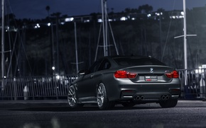 Picture BMW, German, Car, Gray, Wheels, Rear, VMR, Mineral