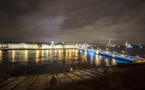 Picture night, lights, Peter, Saint Petersburg, Russia, Russia, SPb, St. Petersburg, spb