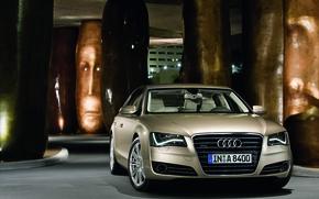 Picture Audi, Audi, Logo, Lights, Car