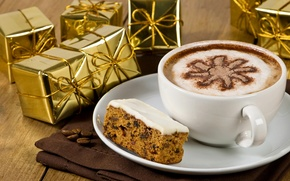Picture holiday, coffee, food, Christmas, tape, gifts, Christmas, cappuccino, dessert, box, holiday, coffee, dessert, cappuccino, gifts, …
