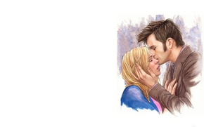 Picture girl, background, mood, figure, art, face, male, Doctor Who, Doctor Who, Tenth Doctor, Tenth Doctor, …