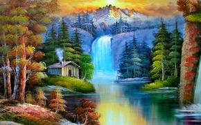 Picture wallpaper, painting, place