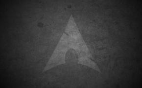 Wallpaper arrow, Arch Linux, grey, shadow, drops