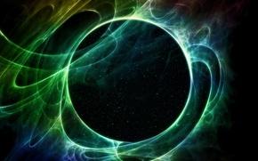Picture lights, Galaxy, Sci Fi, green star