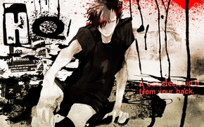 Picture anime, art, captain, guy, Haikyuu, Nekoma, Kuroo By Tetsuro
