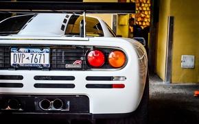 Picture white, McLaren, supercar, white, supercar, back, McLaren