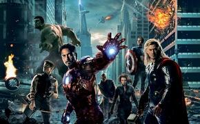 Picture Scarlett Johansson, iron man, Hulk, Thor, captain America, Robert Downey ml, Chris Evans, Mark, Chris …