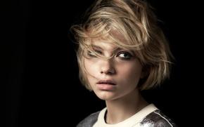 Picture portrait, hairstyle, blonde, black background, photoshoot, Tavi Gevinson, Nick Hudson, Rush, Tavi Gevinson