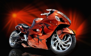 Picture RED, AIRBRUSHING, SPORTBIKE, TUNING