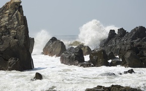Picture beach, water, squirt, the ocean, rocks, India