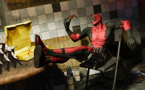 Picture pizza, Marvel, Wade Wilson, Deadpool: The Game