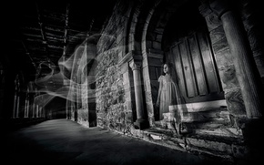 Picture castle, Ghost, girl, Alone