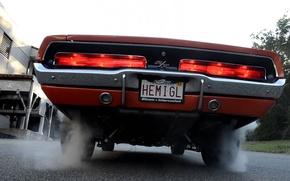 Picture Burnout, 1969, Dodge, Charger, 1970, R/T