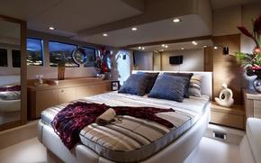 Wallpaper design, furniture, bed, interior, dress, handbag, furnished, cabin