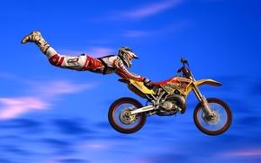 Wallpaper jump, motorcycle, bike, motocross