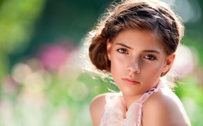 Picture look, girl, the beauty, child photography, Sun Drenched