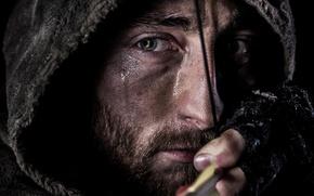 Picture portrait, arrow, Archer, Survive