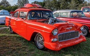 Picture red, Chevrolet, classic, Bel Air, Chevrolet Bel Air