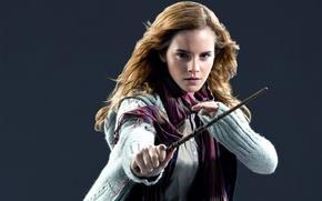 Picture girl, actress, Emma Watson, Emma Watson, Hermione, wand