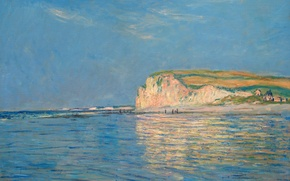 Picture landscape, picture, Claude Monet, Low tide in Purvile