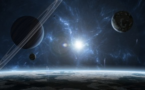 Picture star, planet, gas giant, star system