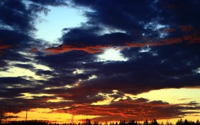 Picture the sky, sunset, nature