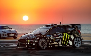 Picture Ford, Dubai, Sunset, Ken Block, Fiesta, Gymkhana, Eight, RX43