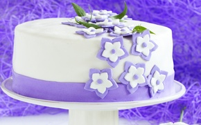 Picture cakes, cake, sugar flowers