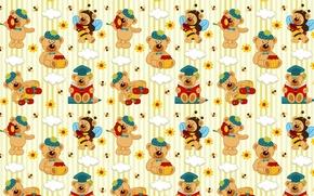 Picture background, texture, art, bear, children's, suit