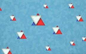 Picture bright, minimalism, Russia, color, triangle, new