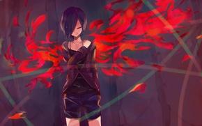 Picture girl, anime, art, Tokyo ghoul, Tokyo Ghoul, Kirishima Bring