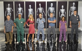 Wallpaper Cleaner, Scrubs, clinic, Turk, Doctor In Kells, Elliot, Dr. Cox, JD