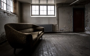 Picture room, sofa, Windows