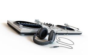 Picture Minimalism, DJ, headphones